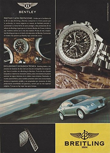 ORIGINAL *PRINT AD* 2006 BENTLEY CONTINENTAL COUPE VINTAGE LARGE COLOR AD