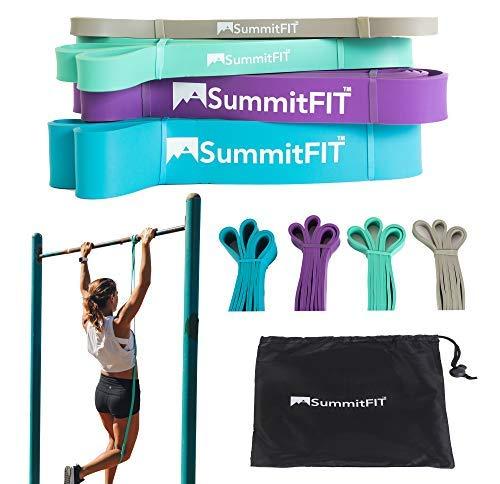Pull Up Assist Bands - SummitFIT, Colorado USA - Mobility Bands, Pull-Up Assistance Bands, Stretch Resistance Bands, Powerlifting Bands, Workout Bands, Set of 4