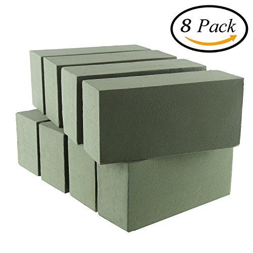 VEYLIN 8 PCS Floral Foam Bricks Green Styrofoam Blocks for Artificial Flowers or Plants