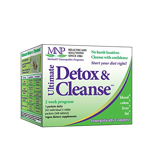 Michael's Naturopathic Programs Ultimate Detox & Cleanse - 168 Vegan Tablets - 14 Day Liver & Intestinal Tract Cleanse, Blood Detox, Supports Fat Metabolism - Vegetarian, Kosher - 14 Servings