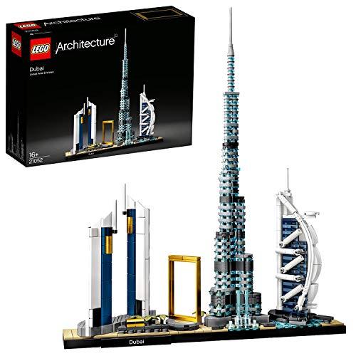 LEGO Architecture - Dubai, Maqueta para Montar el Skyline de la Ciudad y sus Rascacielos, Set de Construccion Coleccionable, Recomendado a Partir de 16 Anos (21052)