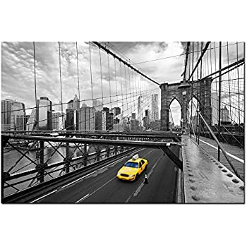 Live Art Decor   Modern Cityscape Canvas Wall Art,New York Yellow Taxi On  The Part 83