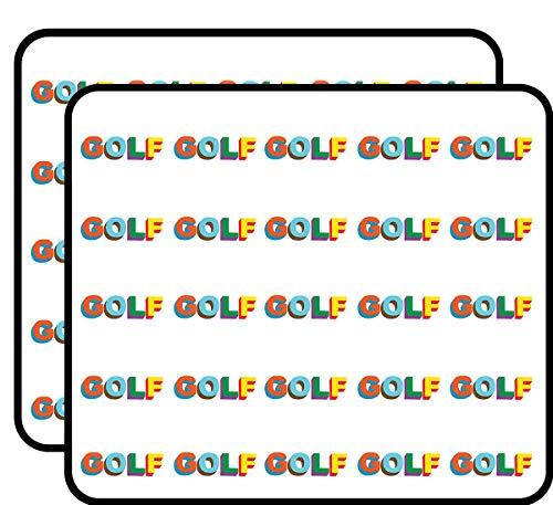 "Golf Logo Colored Tyler The Creator 50 Pack 1"" Stickers for Scrapbooking, Calendars, Arts, Kids DIY Crafts, Album, Bullet Journals"