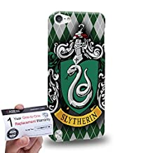 Case88 [Apple iPod Touch 5] 3D Printed Snap-on Hard Case & Warranty Card - Harry Potter & Hogwarts Collections Hogwarts Slytherin Sigil 0566
