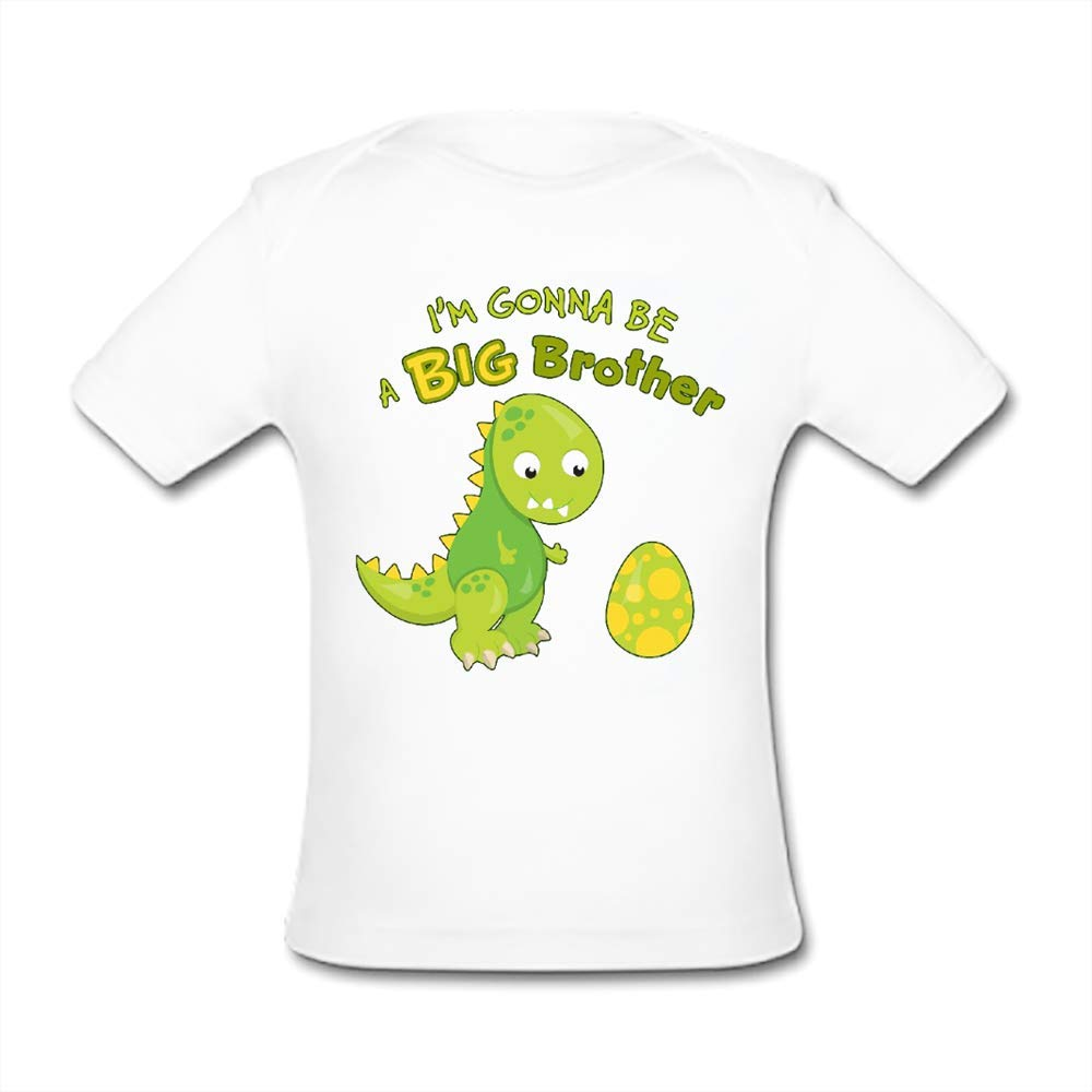 UlanLi Infant Tee Im Gonna Be A Big Brother Baby Organic Short Sleeve T-Shirt