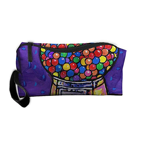 (King Fong Gumball Machines Makeup Bags for Men/Women, Travel Toiletry Bag, Oxford Pencil Case)
