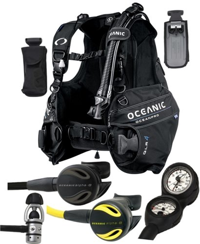 Oceanic Scuba Diver Package with OceanPro BCD Max Depth Swiv Gauge, Alpha 8 Regulator and Octo (SM)