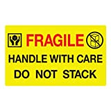 """Jumbo Fluorescent Yellow""""Fragile Handle with Care"""