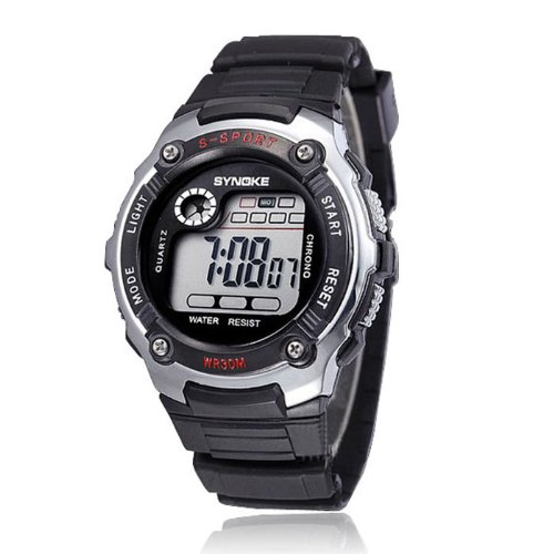 Best Price Goddessvan Cool Boy Digital LED Quartz Alarm Date Wrist Watch Waterproof