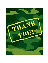 Creative Converting - Camo Gear Thank-You Notes BOBEBE Online Baby Store From New York to Miami and Los Angeles