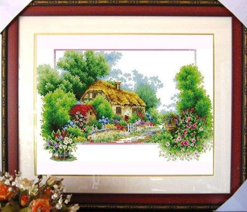 クロスステッチ 刺繍キット(DOME)四季の風景4点セット B00IOEZE5U