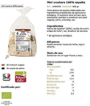 Mini crackers 100% espelta BIO - La Finestra sul cielo - 250 gr ...