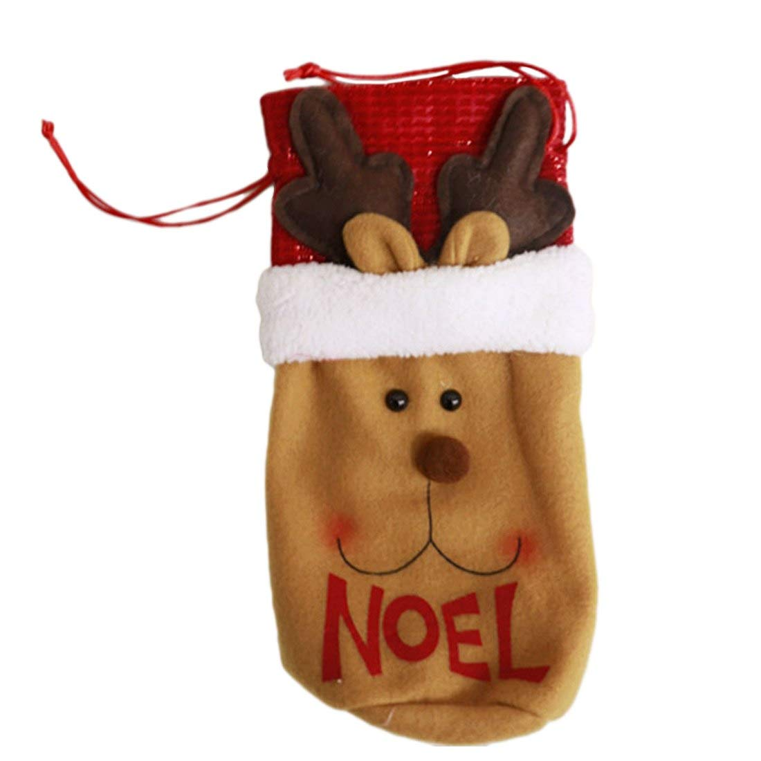 Clothes Decoration - Good 1 Pc Santa Claus Red Wine Bottle Cover Bags Cute Christmas Gift Holders Dinner Table - Holder Clothes Cover Patch Accessories Decoration