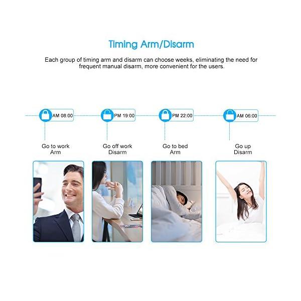 Owsoo Allarme Casa Kit 433MHz Allarme Senza Fili Wireless WIFI + GSM SMS Auto-dial LCD Sistemi di Allarme Domestico di… 7 spesavip