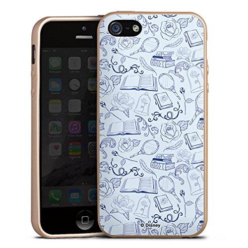 Apple iPhone 5 Hülle Silikon Case Schutz Cover Die Schöne und das Biest Muster Disney