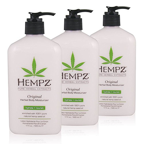 Hempz Original Herbal Body Moisturizer, 17 oz., Pack of 3