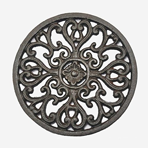 per-home-round-vintage-pattern-672-672-cast-iron-trivet-with-rubber-pegs-feet-for-kitchen-counter-or
