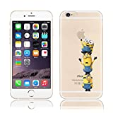 iPhone 5/5s Minions Cartoon Silicone Phone Case / Gel Cover for Apple iPhone 5s 5 SE / Screen Protector & Cloth / iCHOOSE / Easy for 3