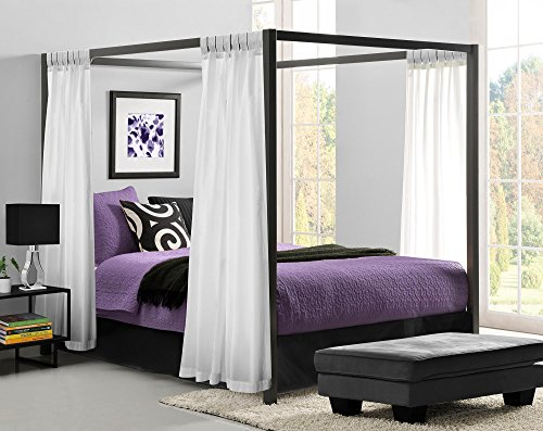 Bedroom-canopy-metal-bed-framed-durability-Weight-limit- : metal bed canopy - memphite.com