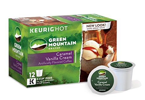 Green Mountain Coffee Caramel Vanilla Cream Keurig K-Cups Coffee, 12 Count
