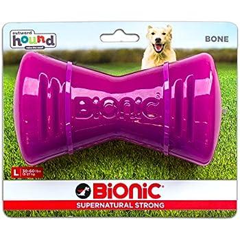 Amazon.com : Tough Rubber Dog Bone, Durable Chew Toy for