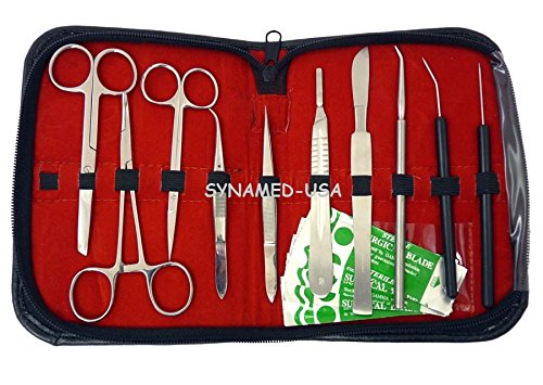 NEW 20 PCS ADVANCED BIOLOGY LAB ANATOMY MEDICAL STUDENT DISSECTING DISSECTION KIT SET ! Lab Teacher Choice ! WITH SCALPEL KNIFE HANDLE BLADES #20 + #21
