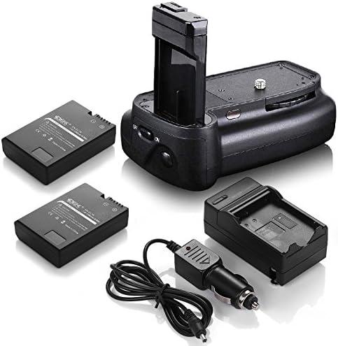 DSバッテリーグリップ+ ( 2パック) en-el14電池+充電器for Nikon d3200d3300d5200