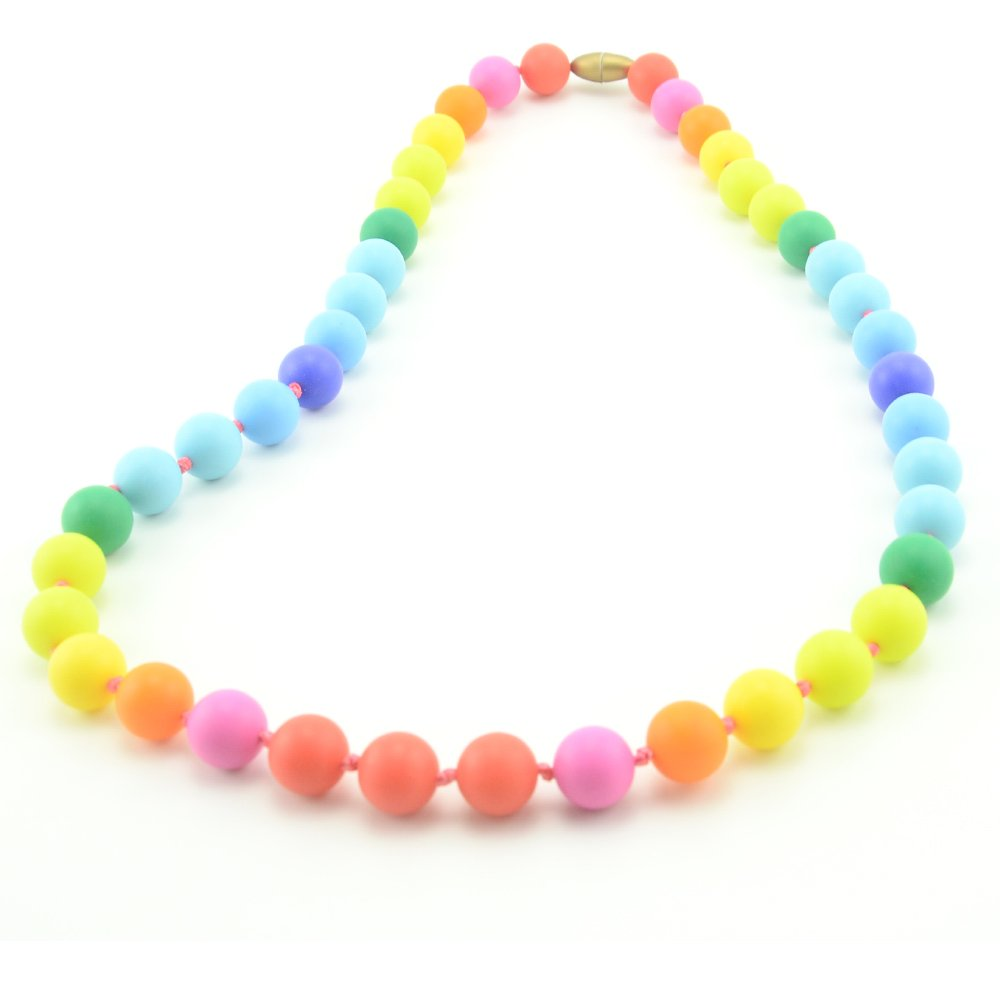 Teether - Rainbow Silicone Teething Nursing Necklace for Mom & Baby