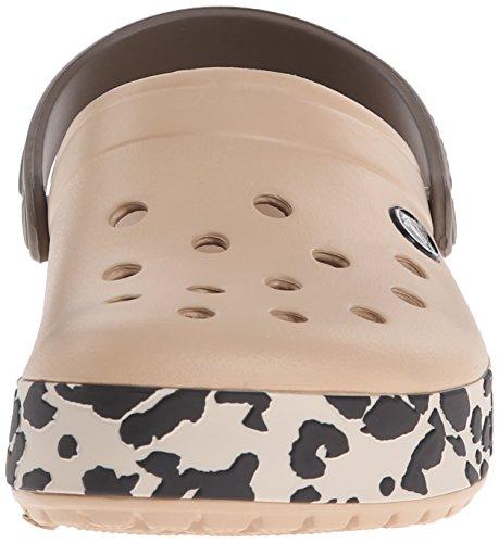crocsCrocband Leopard - Zuecos Unisex adulto Oro (Gold/Black Leopard)