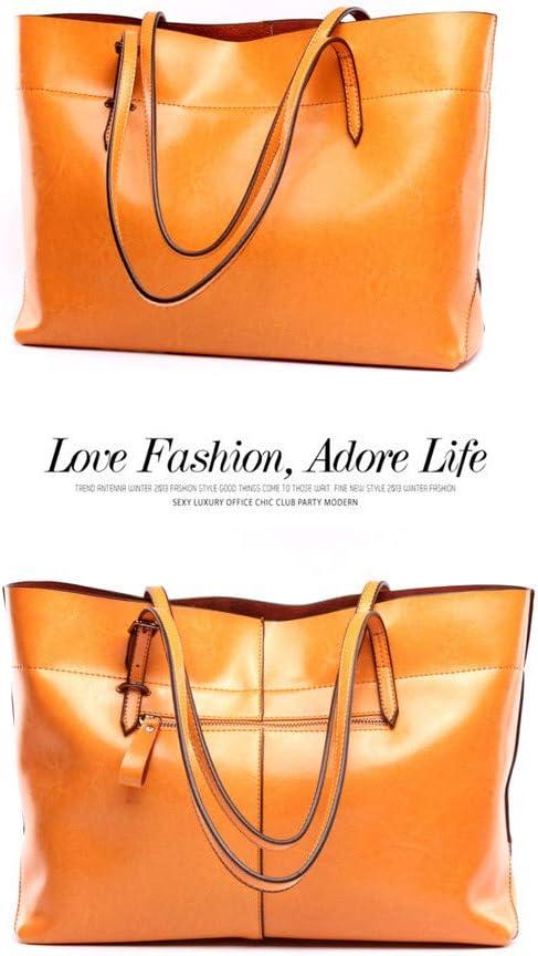 Heqianqian Bolso de Mano Bolsos de Hombro de Gran Capacidad para Mujer Bolsos de Cuero Suave, 7 Colores Diseño para Mujeres (Color : Orange) Orange e8ObHR7P