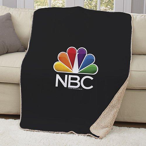 NBC Logo Sherpa Throw Blanket - 37