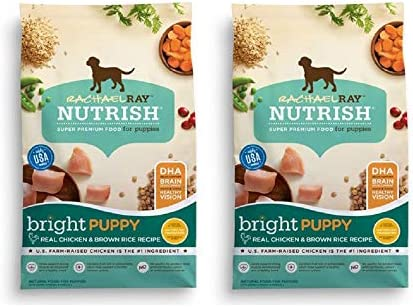 Rachael Ray Nutrish Natural Dry Dog Food 2 Pack, Puppy Real Chicken Brown Rice