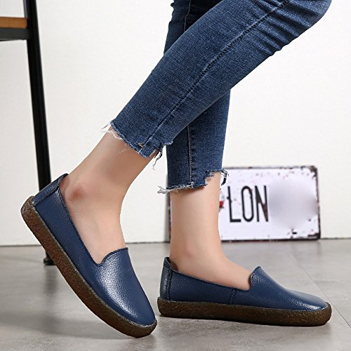 For Womens Blue Soft Women Flat clearance Sale ��farjing Round Casual Gym Slip on Shoes Running Toe wq5xpgdWZq