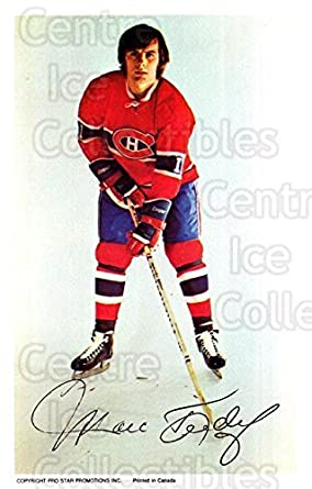 (CI) Marc Tardif Hockey Card 1972-73 Montreal Canadiens Postcards 21 Marc  Tardif 0cbb33fe1