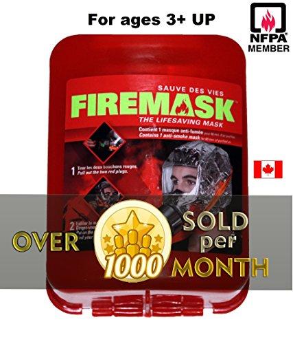 FIREMASK Emergency Escape Hood Oxygen Mask Smoke Mask Gas Mask Respirator for Industrial and Urban Survival Prepper