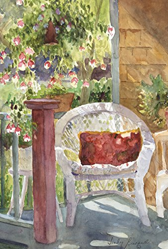 Toland Home Garden  Watercolor Wicker 28 x 40-Inch Decorative USA-Produced House Flag