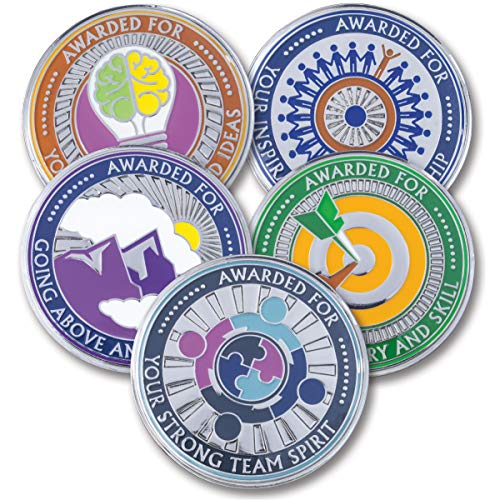 AttaCoin - 5 Coins - Employee Appreciation Gifts - Motivation Award (5 Pack, 5 Coin Variety Pack) -
