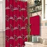 NFL Arizona Cardinals 18 piece Bath Ensemble: Set includes 1 shower curtain, 12 shower hooks, 2 bath towels, 2 hand towels, and 1 bath mat