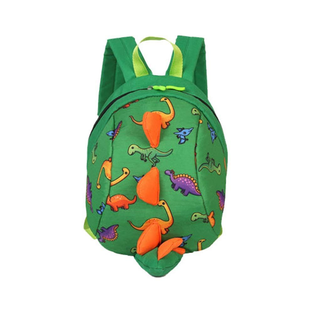 Mini cartoon nursery bag, child anti-lost bag, cute little dinosaur cartoon fabric comfortable and breathable carrying bag for children, small dinosaur backpack 1-3 year ( Color : Green , Size : - )