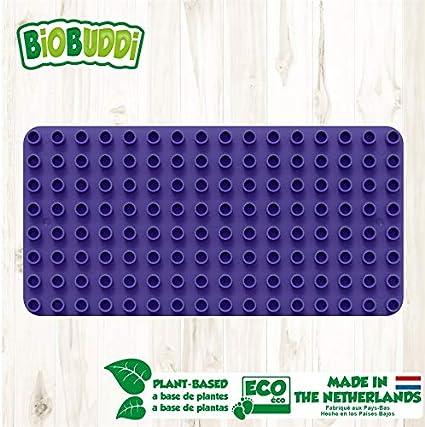 BIOBUDDI Educational Base Plate Foundation for Building Block Sets Purple