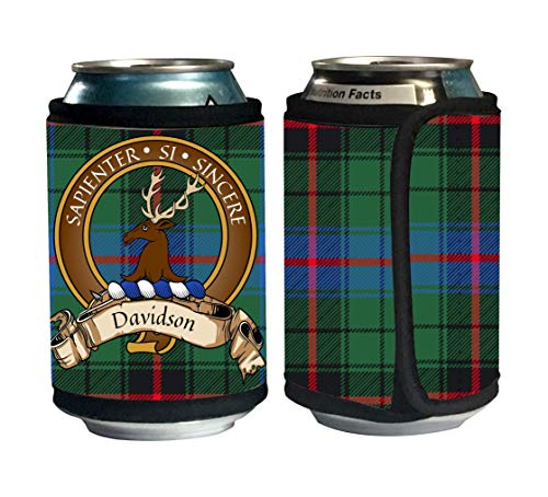 - Davidson Scottish Clan Old Tartan Beer Can Cozie, Can Cooler
