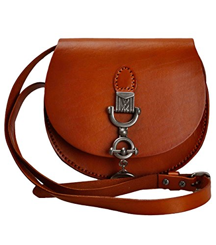 Mini Saddle Bag ZLYC Cowhide Leather Shoulder Bag Hard Crossbody Bag Unique Satchel Purse Valentine's Day Gift