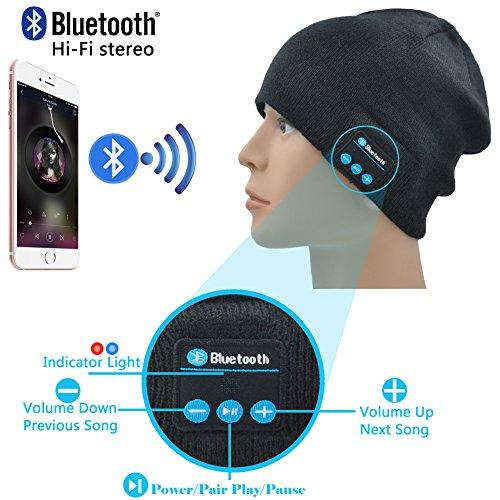 Xikezan Unisex Bluetooth Beanie Smart Winter Knit Hat V4 1