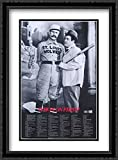 Abbott and Costello: Who's On First? 2x Matted 26x38 Large Black Ornate Framed Art Print