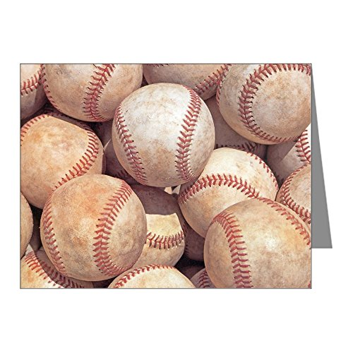 CafePress - Baseballs Note Cards - Blank Note Cards (Pack of 20) Matte