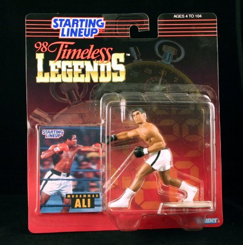 - MUHAMMAD ALI / BOXING 1998 Timeless Legends Kenner Starting Lineup & Exclusive Collector Trading Card