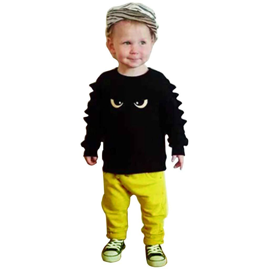 da0fbda1c4d9 Amazon.com  Wenini 2PCS Toddler Baby Boy Top Pant Leggings Outfits Toddler  Warm Clothes Sets (12-18 Months