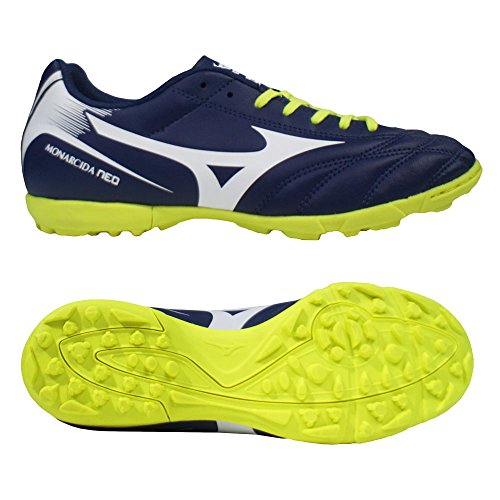 Mizuno Monarcida Neo As - zapatos de gimnasia Hombre Blu (Blue Depths/White/Safety Yellow)