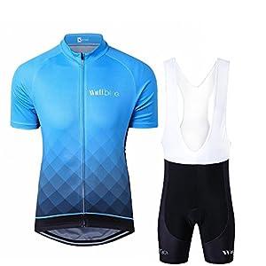 512Dqu0ZspL. SS300 logas Completo Abbigliamento Ciclismo Uomo Estive Magliette Bici Maniche Corte +Pantaloncini Ciclista Uomo
