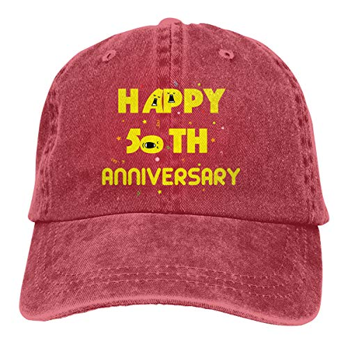 Shenigon Happy 50th Anniversary Better Together Vintage Cowboy Baseball Caps Trucker Hats Red